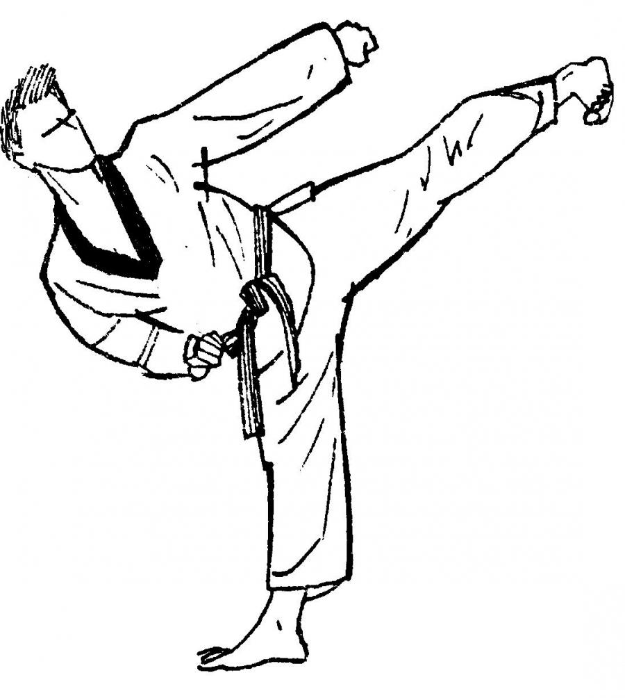 при ударе ногой в тхэквондо тазобедренный сустав